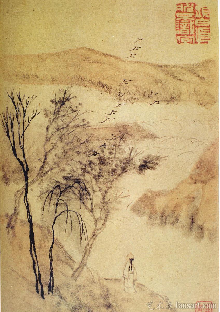 点击欣赏高清大图 清代杰出画家石涛作品欣赏 伴月轩主的