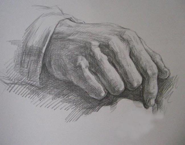 素描手的画法,素描手教程