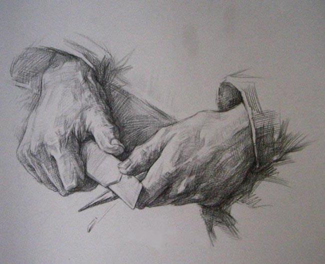 素描手的画法,素描手教程图片